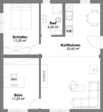 SmartHouse Modul-Kombination 60qm