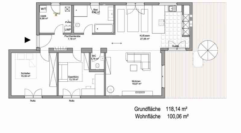 Smarthouse Bungalow 100qm